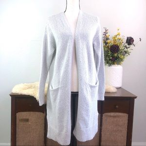 Old Navy super long line open front cardigan gray